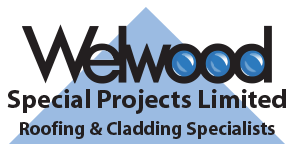 The logo for Welwood Special Projects Limited Roofing and Cladding Specialists