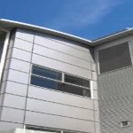 rainscreen cladding on a modern building