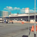 Exterior shot of Beford bus station after roof refurbishment
